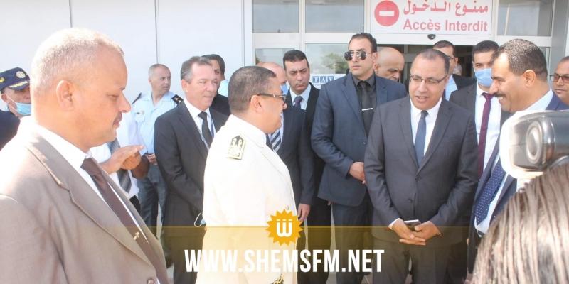 وزير الداخلية يتابع منظومة تأمين مطار المنستير ومنظومة تأمين المنطقة السياحية