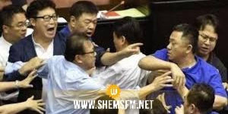 اشتباكات جديدة في برلمان تايوان