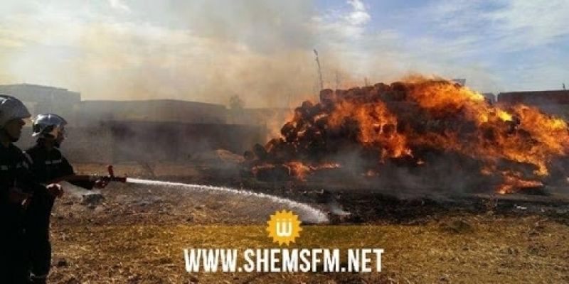 جندوبة: حريق في المركب الفلاحي بدرونة ببوسالم