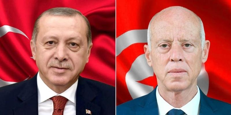 خلال تبادل تهاني عيد الأضحى: سعيّد وأردوغان يتطرقان لجملة من القضايا الدولية