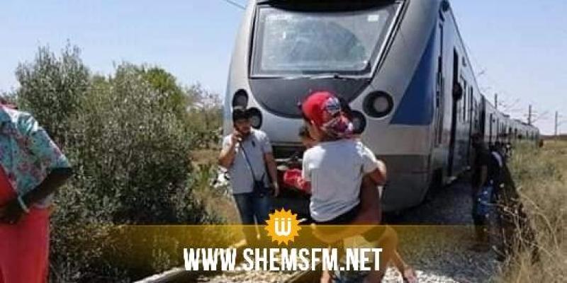 المنستير: خروج القطار عن السكة على مستوى محطة البقالطة (صور)