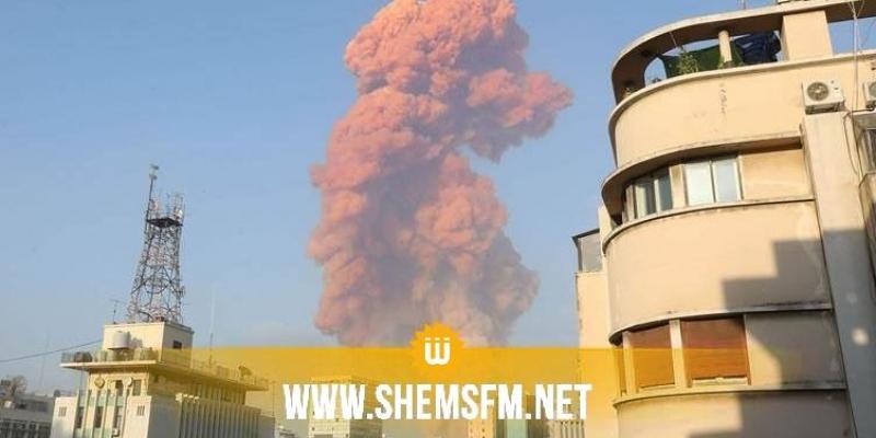 بالفيديو.. انفجار هائل يهز العاصمة اللبنانية بيروت