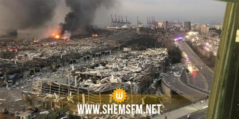 مسؤول: حجم أضرار انفجار مرفأ بيروت يتراوح بين 3 و5 مليار دولار