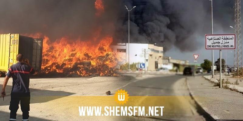 دام أكثر من 13 ساعة: السيطرة تماما على حريق مصنع الفريب بمنزل جميل