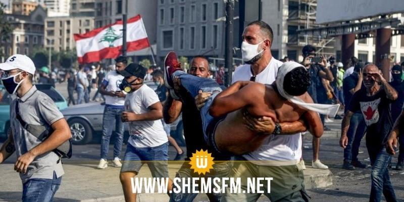 اشتباكات لبنان  .. قتيل و117 إصابة بين صفوف المحتجين