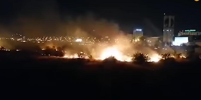حريق على مستوى الطريق السيارة تونس _ المرسى