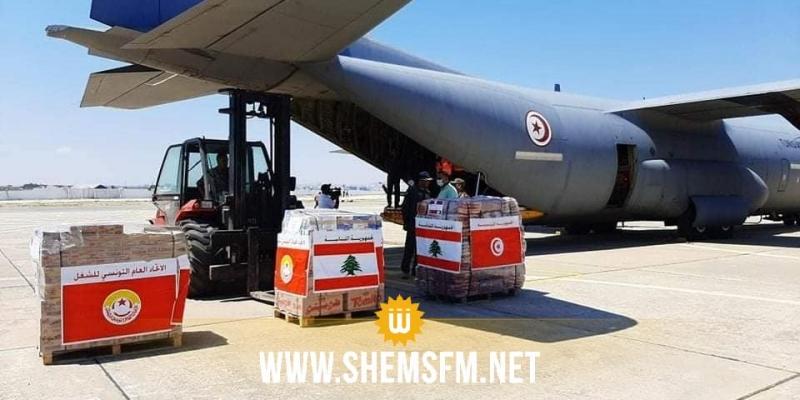 اتحاد الشغل يُرسل اليوم طائرة عسكرية مُحملة بالمساعدات إلى لبنان (صور)