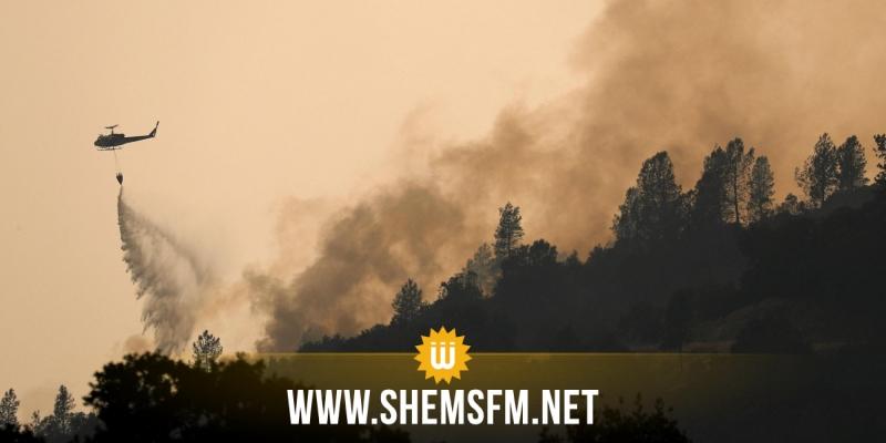 الجيش الوطني يتدخل لإخماد حريق نشب بمرتفعات طبرقة