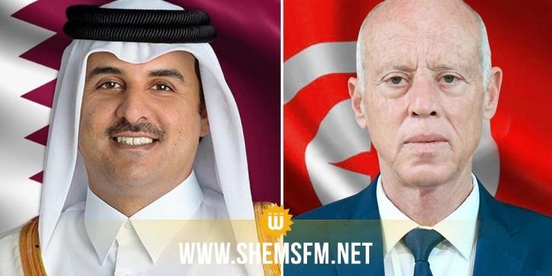 في مكالمة هاتفية مع رئيس الدولة: أمير قطر يؤكد استعداده الكامل لتمويل منصة الإنتاج بسيدي بوزيد