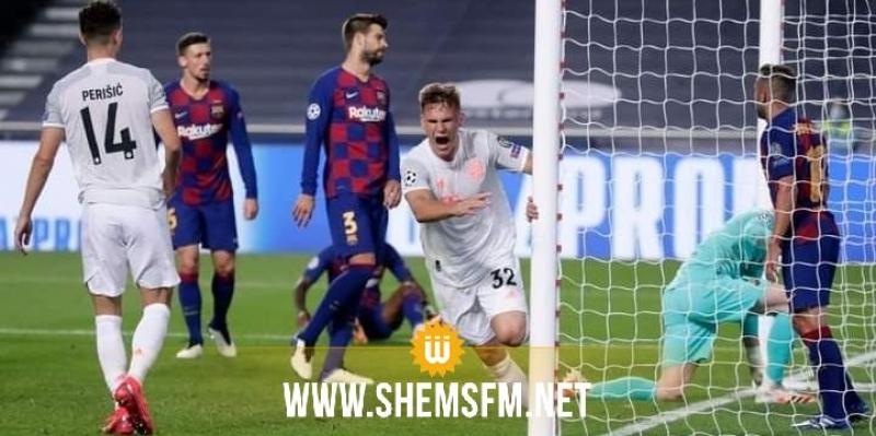 أبطال أوروبا: بايرن يفوز على برشلونة 8-2 ويمر إلى نصف النهائي