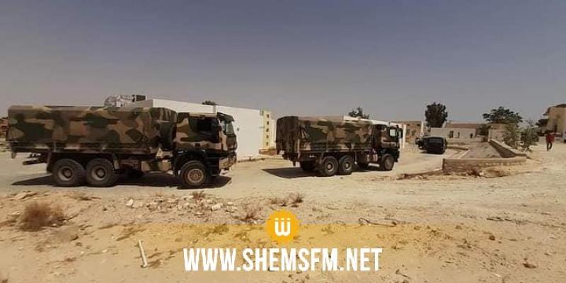 قابس: وصول المستشفى العسكري المتنقل إلى الحامة