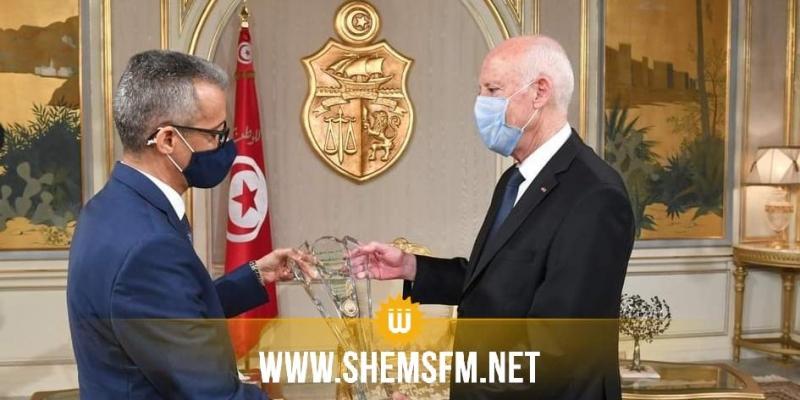 قيس سعيّد يؤكد لدى لقائه مع مدير عام 'الألكسو' على أهمية تذليل العقبات لتطوير العمل العربي المشترك