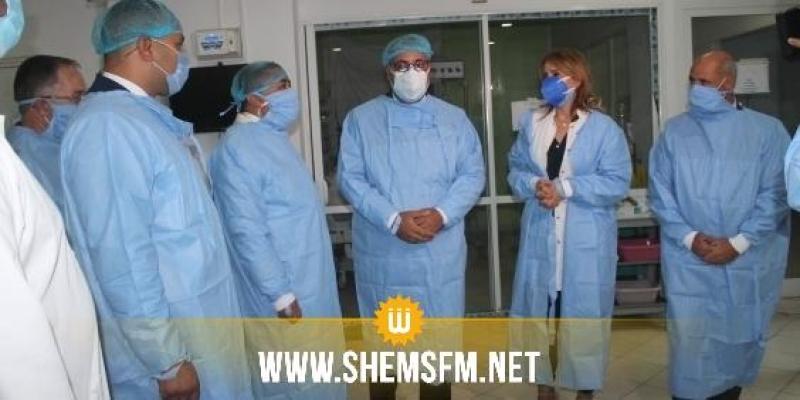 رئيس الحكومة في زيارة غير معلنة لمستشفى فطومة بورقيبة