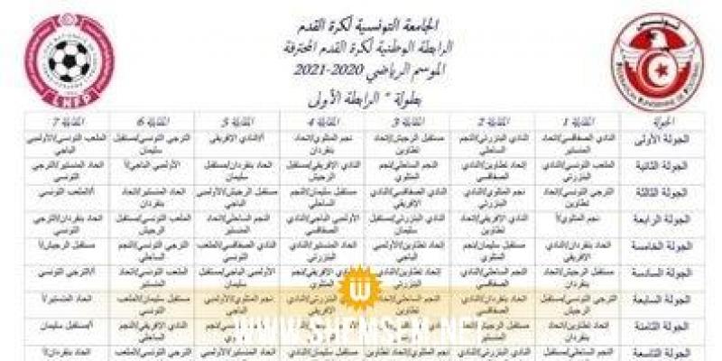رزنامة موسم 2021 /2020 : الدربي في الجولة 11 ومواجهات منتظرة في الجولة الثامنة