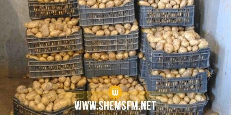 بنزرت: المراقبة الاقتصادية تحجز طنا من البطاطا بماطر
