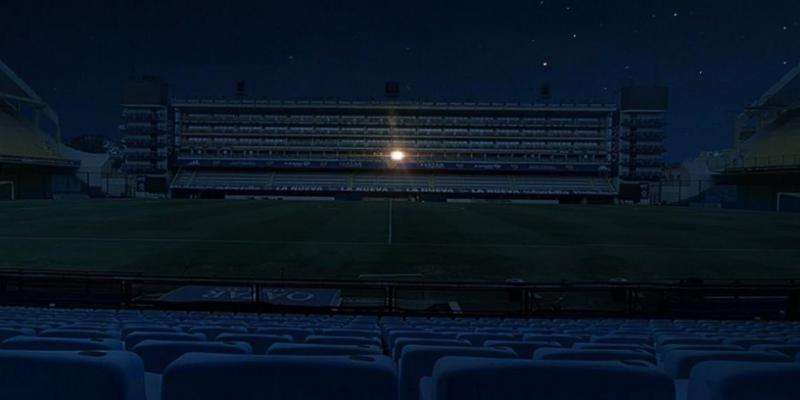 ملعب بوكا جونيورز يضيء من مكان واحد...حيث جلس مارادونا