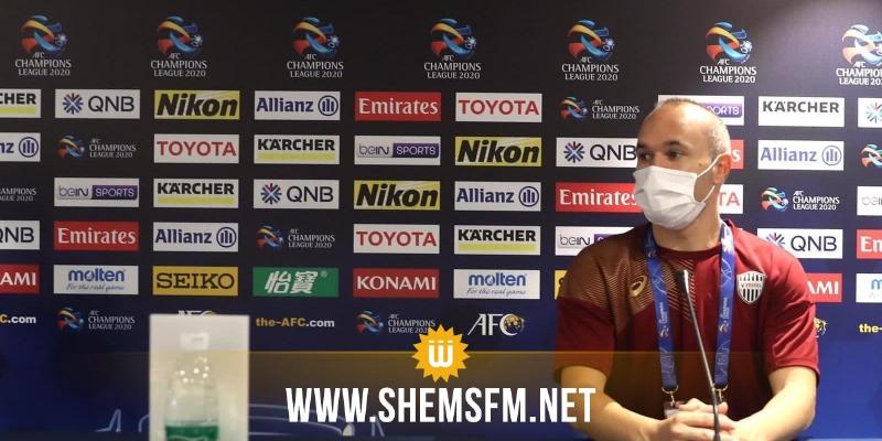 انيستا يشيد بملاعب المونديال ويتطلع لزيارة قطر في 2022