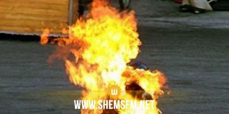 الرقاب: وفاة شاب أضرم النار في جسده أمام مركز الشرطة