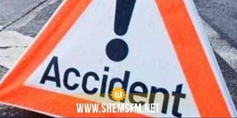 القيروان: إصابة 5 أشخاص في حادث انقلاب شاحنة خفيفة وحالتهم حرجة