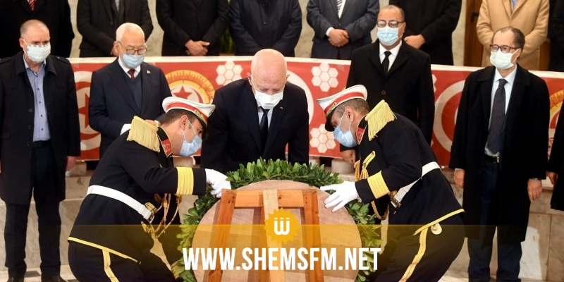 رئيس الدولة يشرف على موكب إحياء الذكرى 68 لإغتيال الزعيم النقابي فرحات حشاد