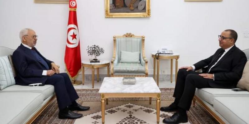 في لقاء المشيشي بالغنوشي: سعي لايجاد حلول للمسائل الاجتماعية والاقتصادية لتونس