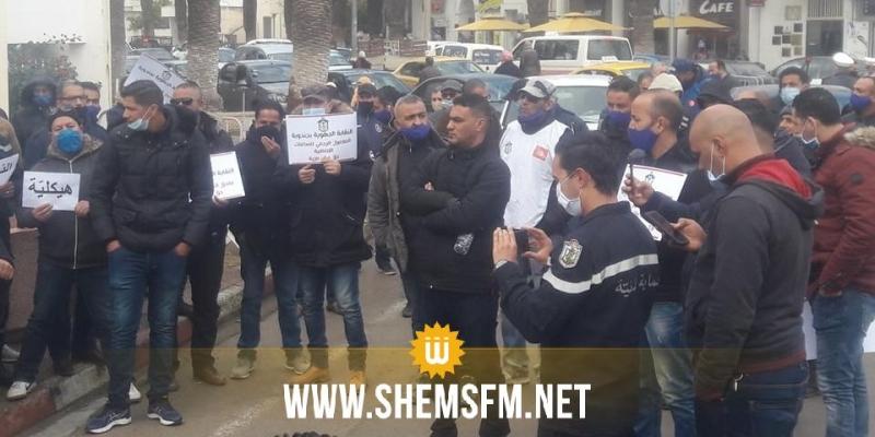 جندوبة : الأمنيون يحتجون