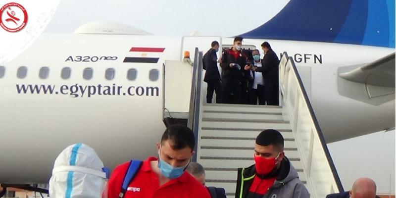 مونديال كرة اليد: تحاليل كورونا سلبية للوفد التونسي فور وصوله إلى القاهرة و في النزل