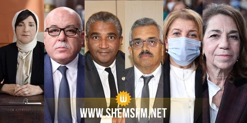 الوزراء المغادرون لحكومة المشيشي