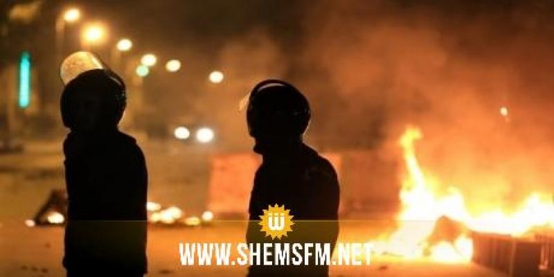 منوبة: اتساع رقعة أعمال الشغب إلى وادي الليل ودوار هيشر وإيقاف 16 شخصا في طبربة