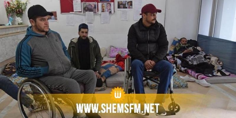 اقتحام اعتصام عائلات شهداء وجرحى الثورة والإعتداء على عدد من المعتصمين