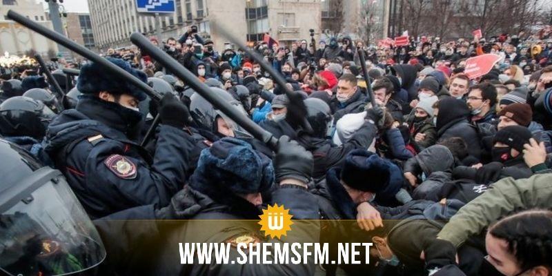 روسيا: إعتقال أكثر من 3 آلاف متظاهر خلال إحتجاجات في عدد من المدن