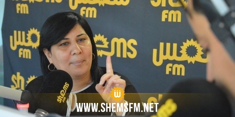 عبير موسي تدعو لسحب الثقة من رئيسي الحكومة  والبرلمان