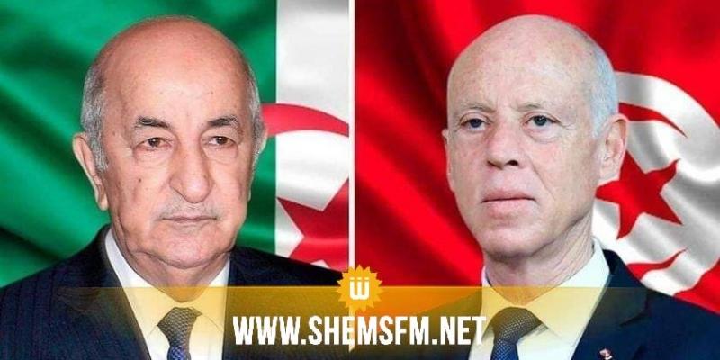 رئيس الجمهورية يتلقى مكالمة هاتفية من الرئيس الجزائري للاطمئنان على صحته