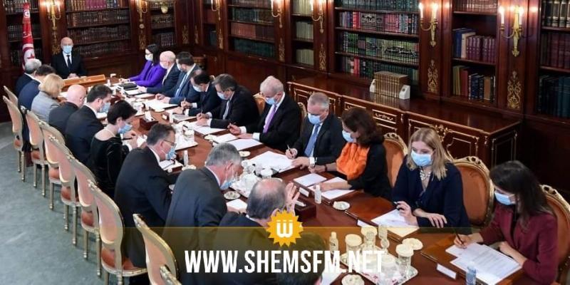 خلال لقائه بسفراء بلدان الاتحاد الأوروبي: رئيس الجمهورية يؤكد على ضرورة استرجاع الأموال المنهوبة