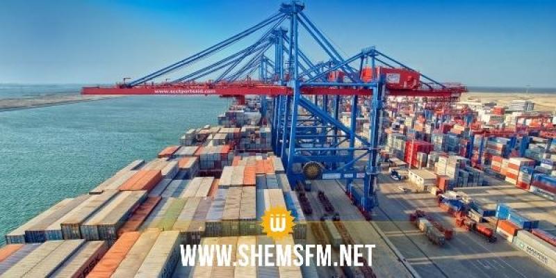 Repli du commerce extérieur de la Tunisie aux prix constants, en janvier 2021