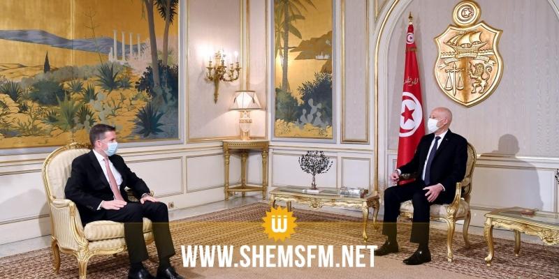 بمناسبة انتهاء مهامه: رئيس الجمهورية يستقبل سفير تركيا