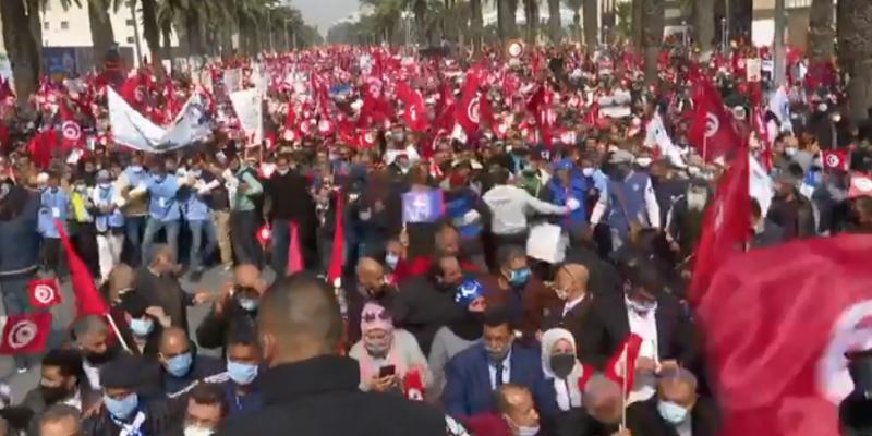 العيادي: مسيرة النهضة ليست ضد أي طرف ولا للرد عن أي مسيرة أخرى