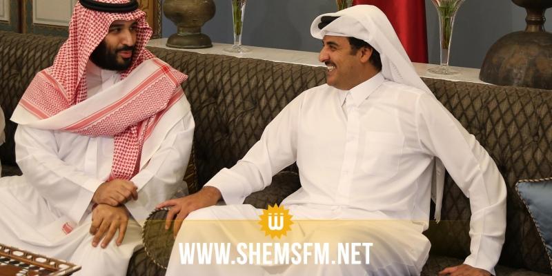 أمير قطر يؤكد لبن سلمان دعم بلاده الراسخ للسعودية
