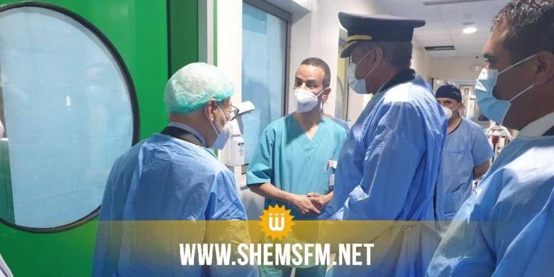 الغنوشي يزور الحبيب الصيد بالمستشفى العسكري