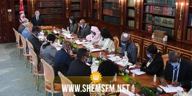 سعيد يؤكد وجوب إرساء علاقات تعاون واندماج بين الدول الإفريقية صلب الاتحاد الإفريقي