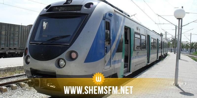 نعسان:  خروج القاطرة الأمامية للقطار عن السكة دون وقوع أضرار