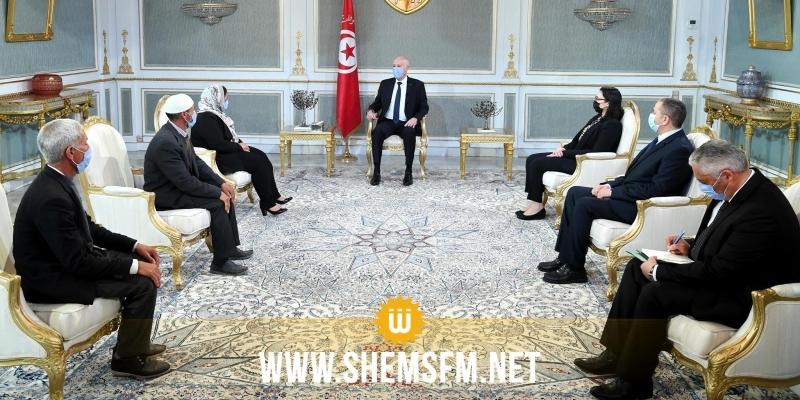 رئيس الجمهورية يلتقي ممثلين عن عائلات شهداء وجرحى ملحمة بن قردان