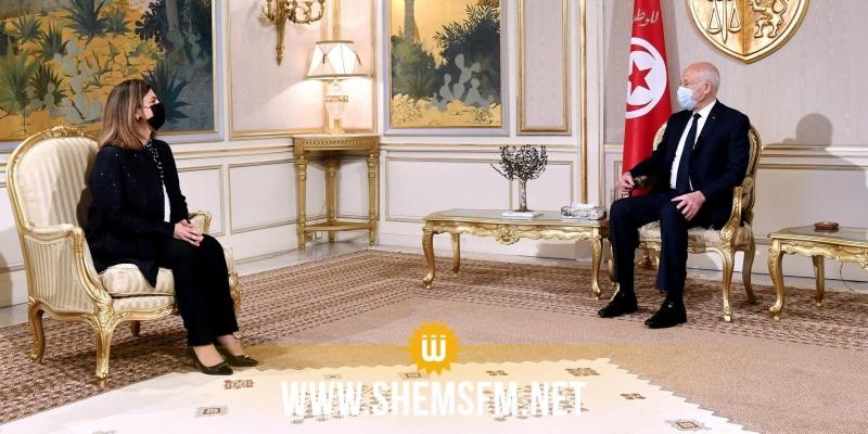 سعيد يدعو في لقائه وزيرة الخارجية الليبية إلى بناء علاقات تعاون نموذجية وفق تصورات وآليات غير تقليدية