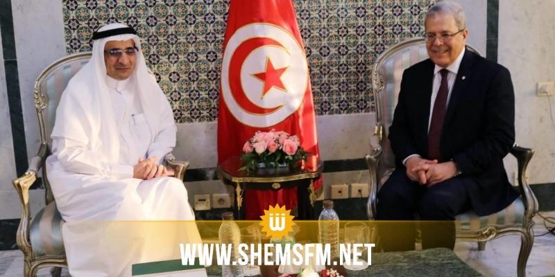 وزير الخارجية يلتقي السفير السعودي بتونس