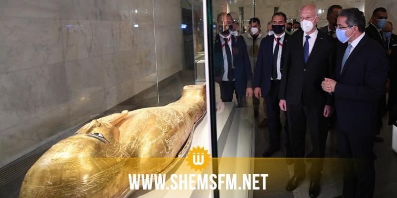 بينها المتحف القومي للحضارة المصرية: سعيّد يزور بعض المواقع التاريخية بالقاهرة (صور)