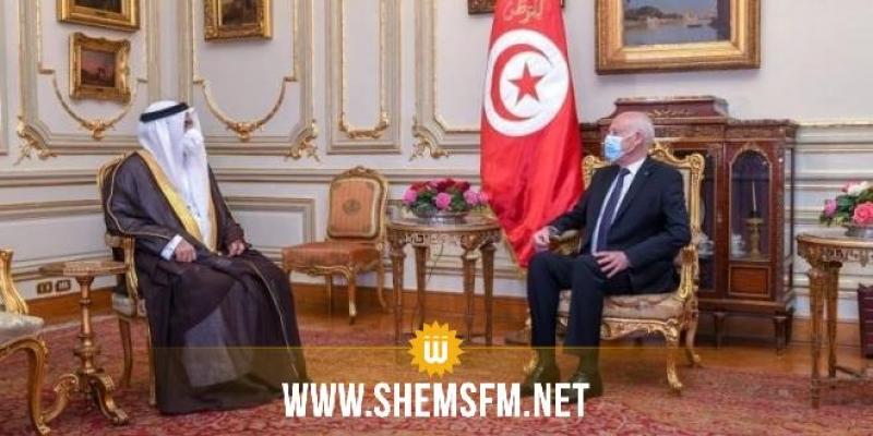 العسومي خلال لقائه سعيد في مصر: 'تونس من الدول المحورية في البرلمان العربي'