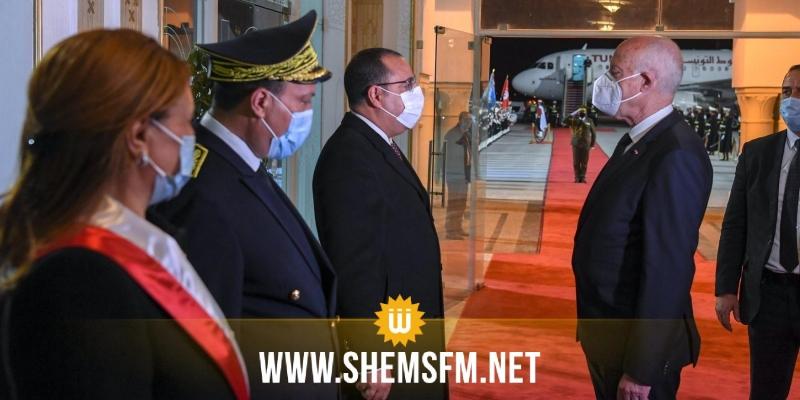 رئيس الجمهورية يصل إلى تونس قادما من القاهرة