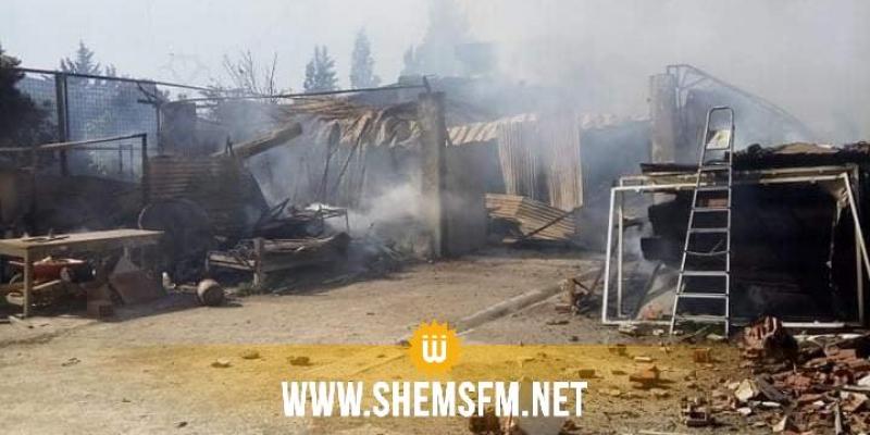 بنزرت: اندلاع حريق يأتي على جميع محتويات مصنع ''للموبيليا ''