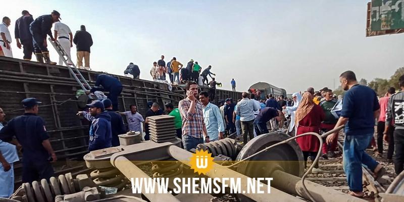 مصر: 11 قتيلا ونحو مائة جريح في حادث قطار جديد