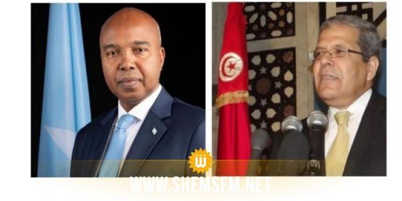وزير الخارجية يتلقى مكالمة هاتفية من نظيره بجمهورية الصومال الفيديرالية